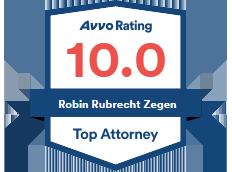 Avvo Rating 10.0 Robin Rubrecht Zegen Top Attorney