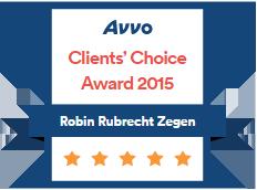 Avvo Client's Choice Award 2005 Robin Rubrecht Zegen